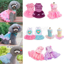 Cute Female Dogs Party Dress Rose Wedding Dress Dog Pet Puppy Clothing A... - $24.50