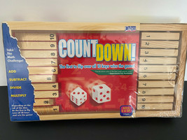 Count Down Learn Fun Numbers Math Easy Family Game Wood - $25.74