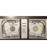 $20,000 In Play Money 1928 $1,000 Bills 20 pieces. Prop Money USA Actual Size! - $10.99