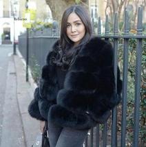 Women Winter fashion Designer Thick Faux Mink Coat image 2