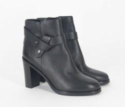 Via Spiga Farrah Harness Ankle Boots Black Leather Women's Booties - $89.95