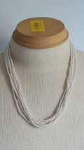 """BEAUTIFUL 22""""WEDDING VINTAGE 7 STRAND FAUX WHITE SEED PEARL NECKLACE,FOR... - $9.50"""