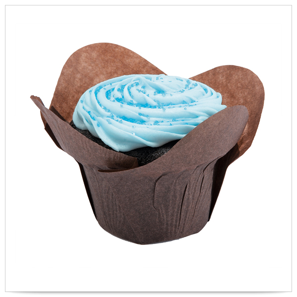 2  x 2  x 2x3/4  Large Chocolate  Lotus Cupcake Wrapper/Case of 2500