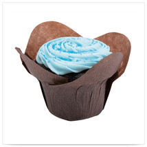 2  x 2  x 2x3/4  Large Chocolate  Lotus Cupcake Wrapper/Case of 2500 - $270.49