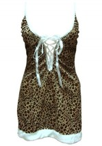 Sexy Leopard Print Christmas Santa Costumes - $30.06