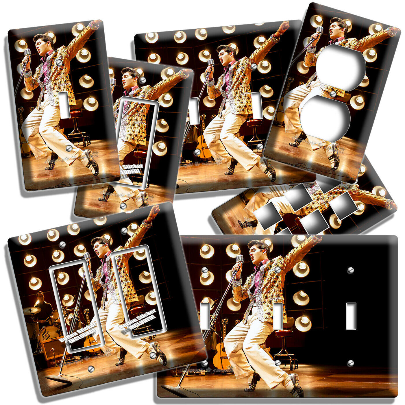 Primary image for ELVIS PRESLEY PERFORMS HIPS ON STAGE LIGHT SWITCH OUTLET WALL PLATES ROOM DECOR