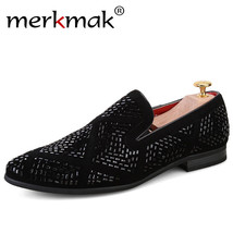Men Flat Loafers Leather Casual Handmade Merkmak S Brand Luxury Loafers Italian Ewq87P8
