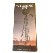 Wyoming Road Map Highway 1975 Windmill Cover Good Condition - $3.99