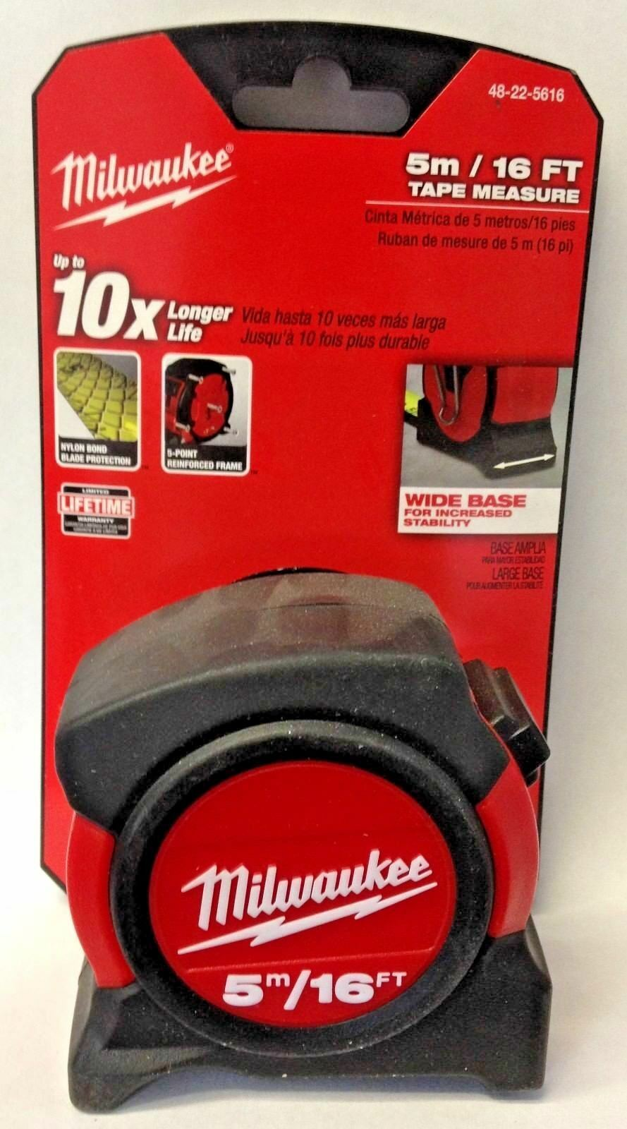 Primary image for Milwaukee 48-22-5616 5m / 16 FT Tape Measure