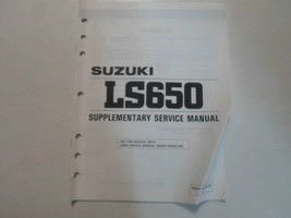 1996 Suzuki LS650 Supplementary Service Manual Minor Wear Factory Oem Book 96 - $19.79