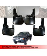 Front And Rear Splash Guard Mud Flap For Ford Ranger 1998-2002 (NO For USA) - $110.50