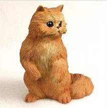 PERSIAN RED CAT Figurine Statue Hand Painted Resin Gift - $16.74