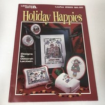 Holiday Happies Christmas Cross Stitch Patterns Leisure Arts Leaflet Vtg 1997 - $3.47