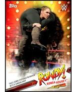 2019 Topps Road to WrestleMania Ronda Rousey Spotlight #5 Takes Down Ste... - $2.00