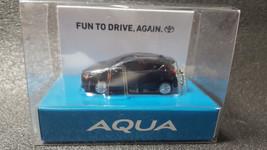 Toyota Aqua Light Keychain Black Pull Back Mini Car Japan Not Sold In Stores - $20.90