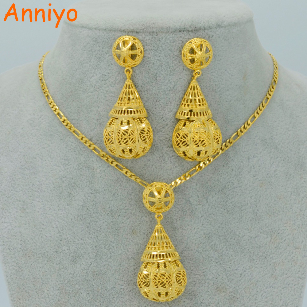 Primary image for Jewelry sets Necklace Earrings.Gold Color African Party Jewelry.Arab