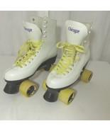 Vintage Chicago 9 Roller Skates White Yellow Derby Twister USA Wheels - $148.46