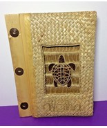 """Turtle Aloha Photo Album Natural Material Made 8""""x5.5"""" Page Size 4""""x6"""" P... - $24.30"""