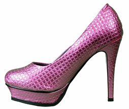 Iron Fist Women's Pink Studs Number of the Beast High Heels Platform Shoes NIB image 4