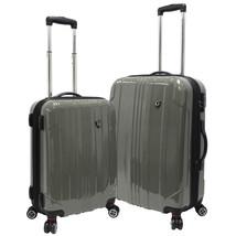 "Traveler's Choice Gray Sedona 2pc 100% Polycarbonate 21"" 25"" Spinner Lug... - $138.59"