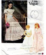 Vtg 1993 Girl's DRESS Little Vogue Pattern 2867-v with Jennifer Connelly Size 1 - $12.00