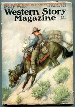 Western Story Magazine Pulp August 5 1922- Hastings cover VG - $94.58