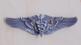 "USAAF ARMY AIR FORCE SURGEON 3"" MEYER STERLING SILVER WING BADGE PARTS R... - $94.04"