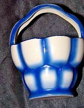 Czechoslovakia Ceramic Basket AA18-1368-G Vintage image 3