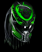 The Predator Helmet Motive Skull Green (Dot & Ece Certified) - $250.00