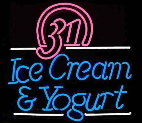 """New Ice Cream And Yogurt Neon Light Sign 24""""x20"""""""