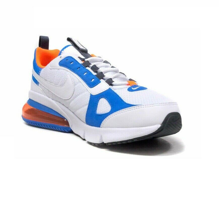 Nike Air Max 270 Futura White Blue Total Orange AO1569-100 Mens Shoes image 3