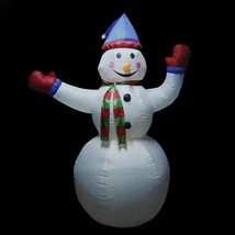 8' Animated Inflatable Lighted Standing Snowman Christmas Outdoor Decora... - €90,07 EUR