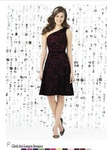 Dessy 8141...Cocktail length, One shoulder Lace Dress....Burgundy....Size 6 - €43,14 EUR