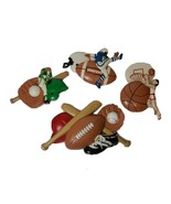 Set of 4 VTG Burwood Sports Themed Wall Plaques Boys Wall Hangings Plaques - $17.09