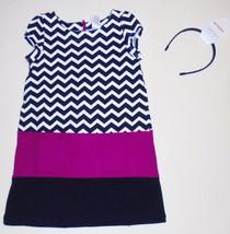 Gymboree Girls Chevron Stripe Block Dress Headband Size 4 NWT - $20.00
