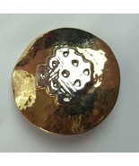 VINTAGE GOLD SILVER TONE BUTTON CLIP-ON SINGLE Earrings FASHION (P) - $7.02