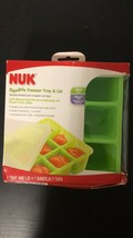 NEW Nuk Flexible Freezer Tray And Lid Baby Food, Green Bpa-free Silicon - $14.84