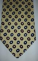 Brooks Brothers Men's Tie Silk yellow design - $12.87