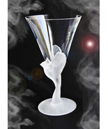 HAUNTED CRYSTAL BIRD GOBLET OOAK OFFERS ONLY ALL IS CLEANSED MAGICK 7 SC... - $7,000.77