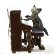 Hagen Renaker Cat Playing Piano Keyboard Ceramic Figurine