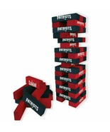 NFL New England Patriots Table Top Stackers Tower Build Game Jenga Board... - $33.11