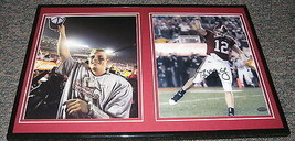 Greg McElroy Alabama National Champs Signed Framed 12x18 Photo Set GTSM - $58.54