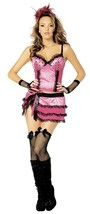 Burlesque Dancer costume for women size Large plus stockings for Halloween - $19.75