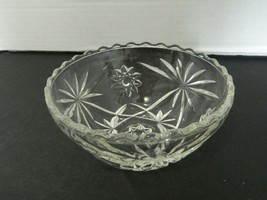 Anchor Hocking Early American Prescut Star of David Scalloped Rim Bowl #775 - $12.75