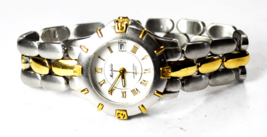 Women's Michele Quartz White Roman Dial Two Tone Wristwatch 28mm - $98.99