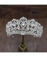 European Caroque Big Crown Crystal Tiara Wedding Queen Crowns Bride Rhin... - $19.80