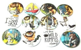 "12 WILD THINGS Buttons Pinbacks 1"" Pins Badges Where The Are Rumpus Mons... - $7.99"