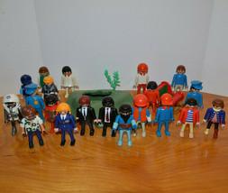 Playmobil Mini Action Figures & Base Plate Lot Geobra Police Astronauts - $25.14