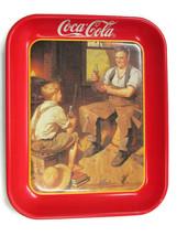 Coca-Cola Commerative Tray 1933 Calendar Graphics Village Blacksmith - $12.38