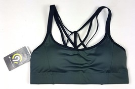 Champion Sz Small 32ABC 34AB Hunter Green Removable Cups Sports Bra NWT - $11.29